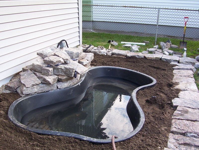 Diy water garden and koi pond learning as i go for Koi pond liner